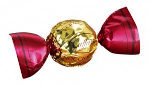 Nocciolotto Pralin i vinröd/guldfolie - Caffarel