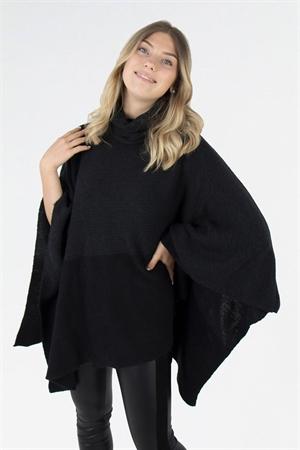 ELEONORE poncho (svart/grå)