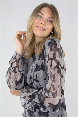 Lång blus/kaftan Rebel Tunic Dark Khaki - Capri Collection