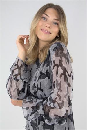 Lång blus/kaftan Rebel Tunic Dark Khaki - Capri Collection