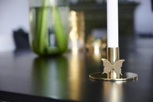 Ljusstake Butterfly 7 cm, Mässing, Carolina Gynning