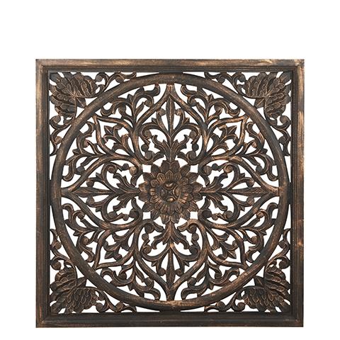 Carve Tempeltavla, Svart/guld (90x90cm 770-451-60)