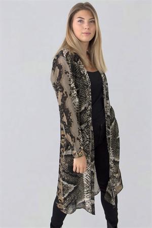Monaco långskjorta (svart/sand/guld) - Capri Collection