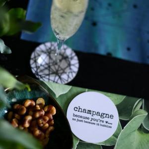 Glasunderlägg CHAMPAGNE - Erika Tubbin