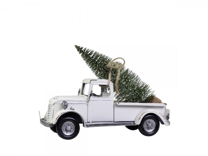 Lastbil med julgran, vintage - Chic Antique