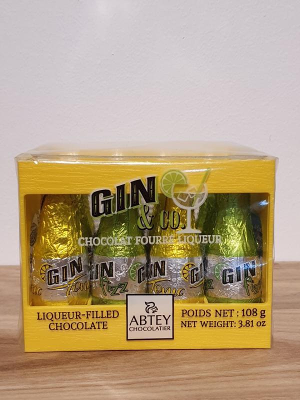 Back med Gin & Tonic/Fizz - Mörk choklad fylld med likör