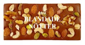Blandade nötter, Mjölkchoklad 40% - Pralinhuset