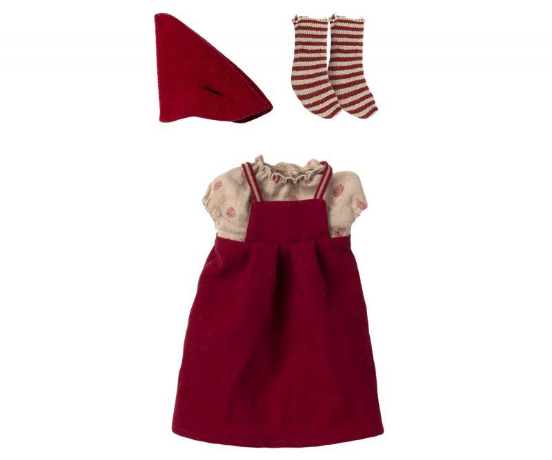 Christmas clothes, Medium mouse - Girl - Maileg     LEV OKT/NOV