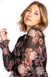 Cosette Skjort Tunika Svart/rosa/Sand - Capri Collection