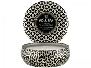 Crisp Champagne 3-Wick Tin Candle - Voluspa Doftljus