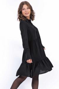 Destiny Skjort Klänning Svart  - Capri Collection