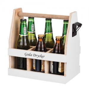 Goda drycker, back med plats för 6 flaskor