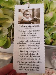 Diktkort - Älskade stora barn