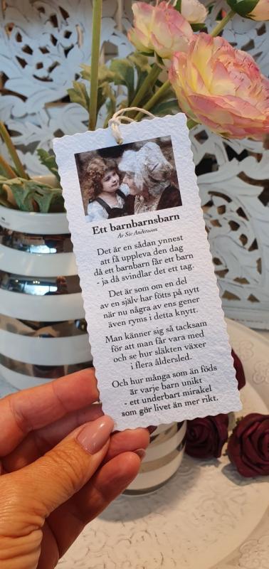Diktkort - Ett barnbarnsbarn