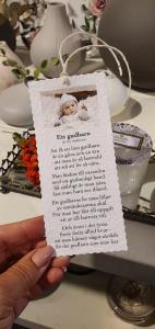 Diktkort - Ett gudbarn