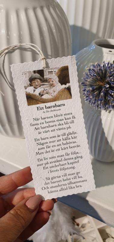 Diktkort - Ett barnbarn