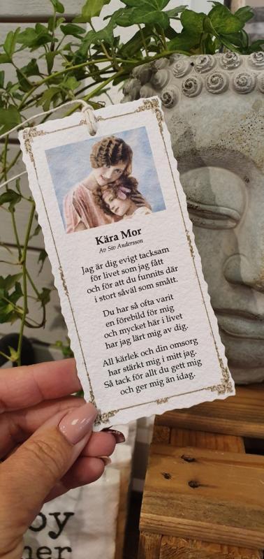 Diktkort - Kära mor