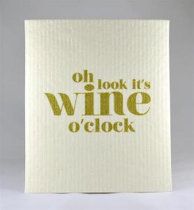 Disktrasa, Oh look it´s wine o´clock (Vit/Guld) - Mellow Design