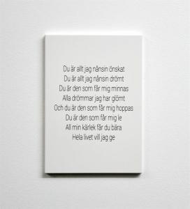 Tavla, Du är allt jag nånsin önskat (A5) - Mellow Design