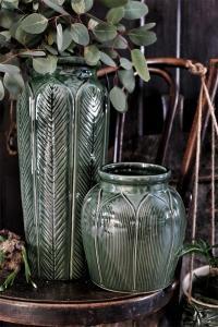 Eklaholm Vas Funkis 20 cm, Grön keramik - I AM INTERIOR         KOMMER I DEC