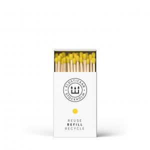 Eldstickan tändstickor, gul sol (refill)