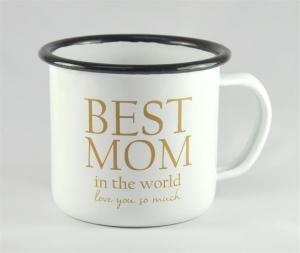 Emaljmugg: Best Mom - Mellow Design