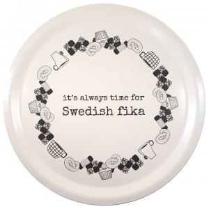 Bricka dia 31 cm, SWEDISH FIKA - Erika Tubbin