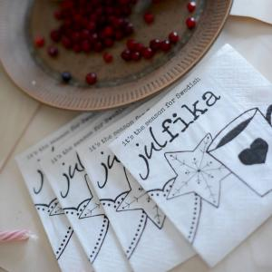 Kaffeservett, Swedish Julfika - Erika Tubbin