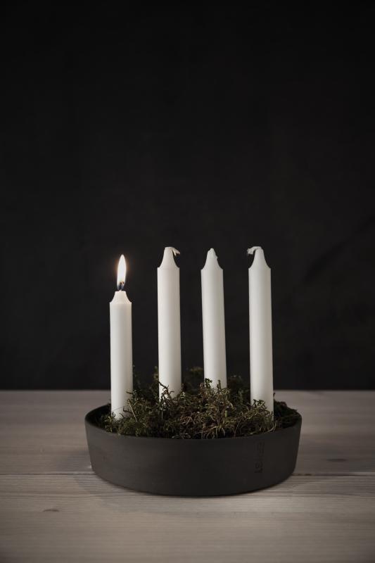 ERNST Ljusfat/ljusskål advent - mörkgrå