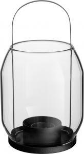 ERNST Lanterna i Glas & Svart Metall
