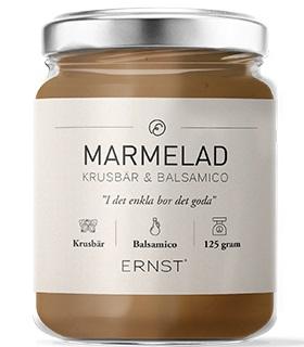 ERNST Marmelad (krusbär/vit balsamico)