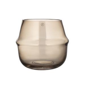 ERNST Ljuslykta/Vas  i glas. Bärnsten - H15cm