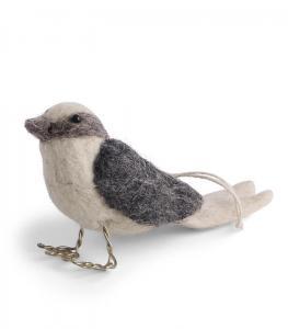 Tovad fågel i offwhite och grått - En Gry & Sif