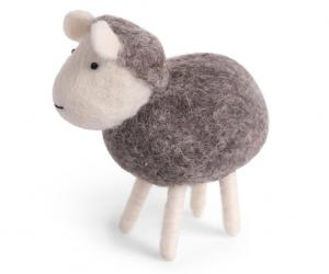 Får, grått - tovad ull