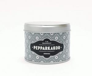 Pepparkakor i grafitgrå plåtburk, mini 45g - Finsmakeriet
