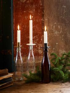 Ljushållare för Flaska Vit (Strömshaga)
