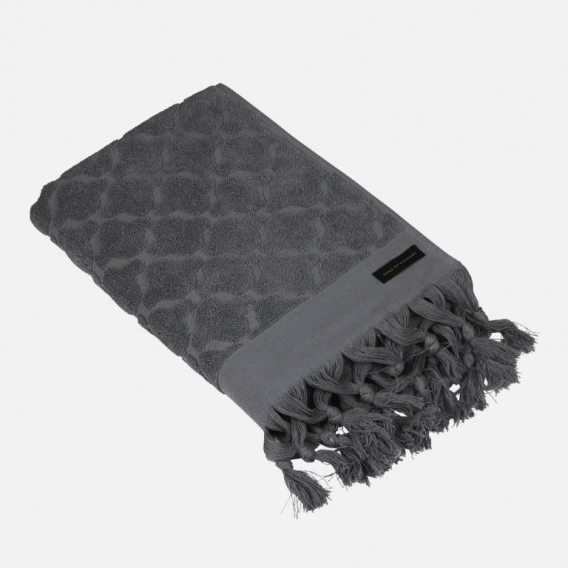 Handduk mörkgrå, 50x70 cm