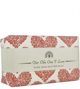 For The One I love Red Heart Rose Soap 200gr