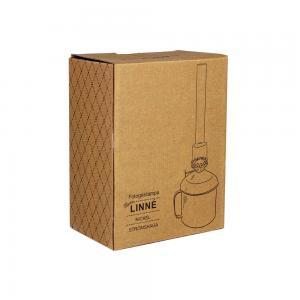 Fotogenlampa Linné, förnicklad mässing, stor