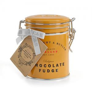 Klassisk fudge i plåtburk, choklad