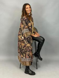 Kimono, svart mönstrad (Gabbi) - Mix by Heart