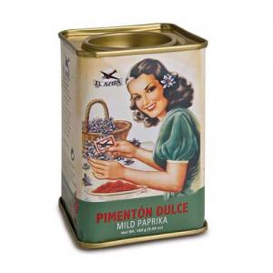 Mild paprika, pulver i metallburk