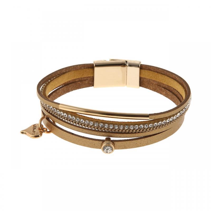 Gemini Armband med remmar i guld - med guldfärgat magnetlås