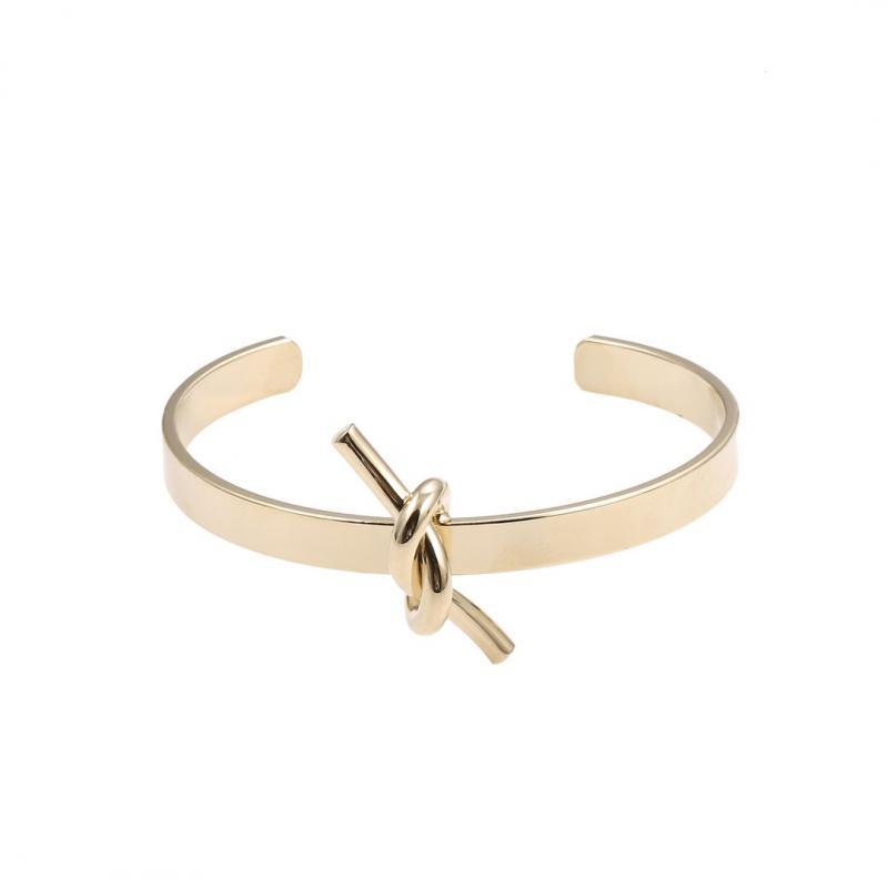 Gemini Armband, guldfärgat stelt med knut