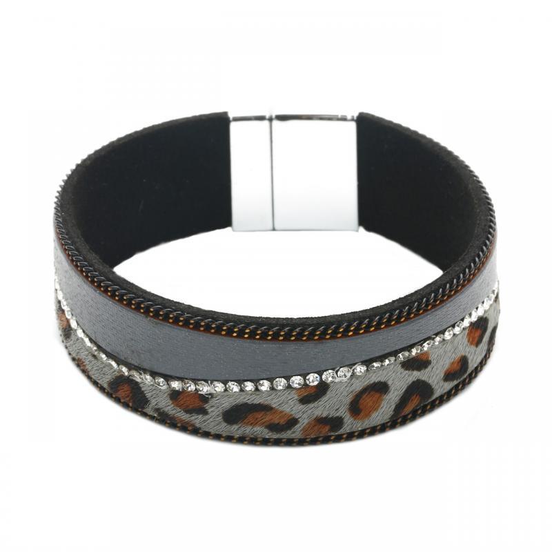 Gemini Armband, Rem leo i grått