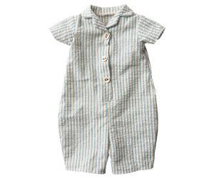 Maileg, Blå/vit-randig pyjamas - size 5 till Bunny eller Rabbit