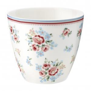 Latte mugg Nicoline white