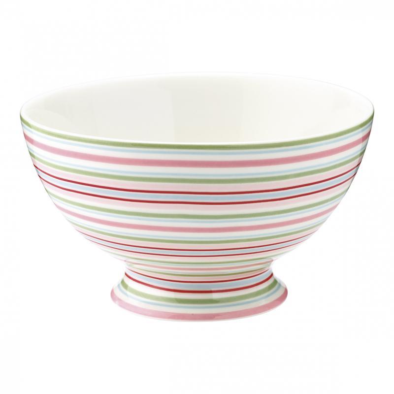 Soppskål Silvia stripe white