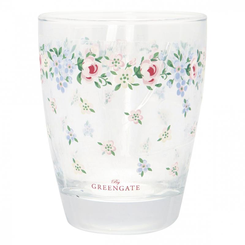 Vattenglas Melina white