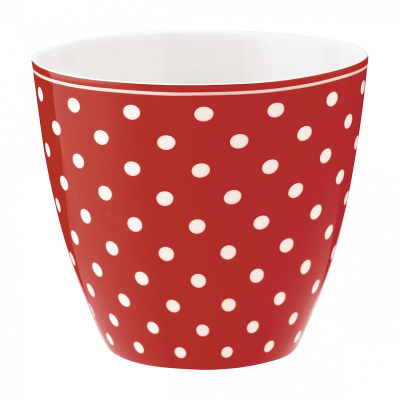 Latte mugg Spot red